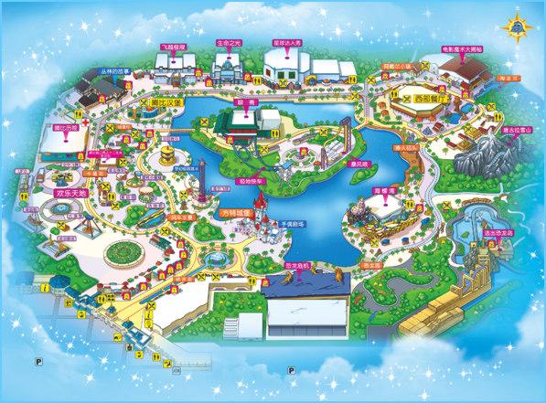 欢乐芜湖手绘地图